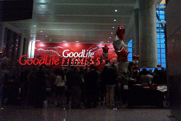 Goodlife Fitness opening event at Toronto's Pearson International Airport Terminal 1, Gate F.