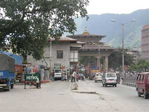 Bhutan border city of Phuentshong