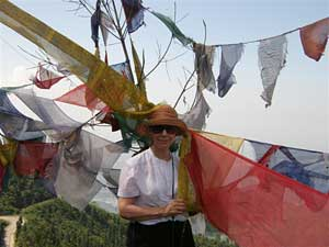 Silk prayer flags of the Kingdom of Bhutan