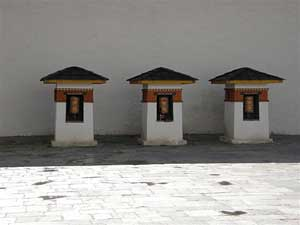 Prayer bells at the Amankora Hotel in Thimphu