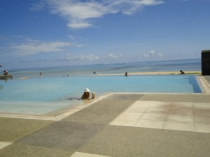 One of the Pools at the Intercontinental Hotel