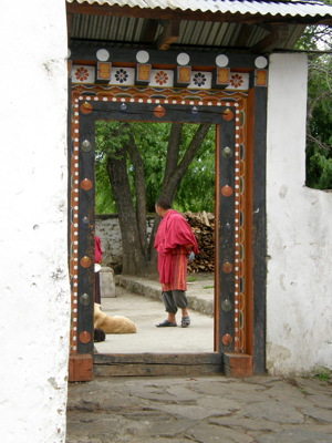 Doorframe Punakha Dzong