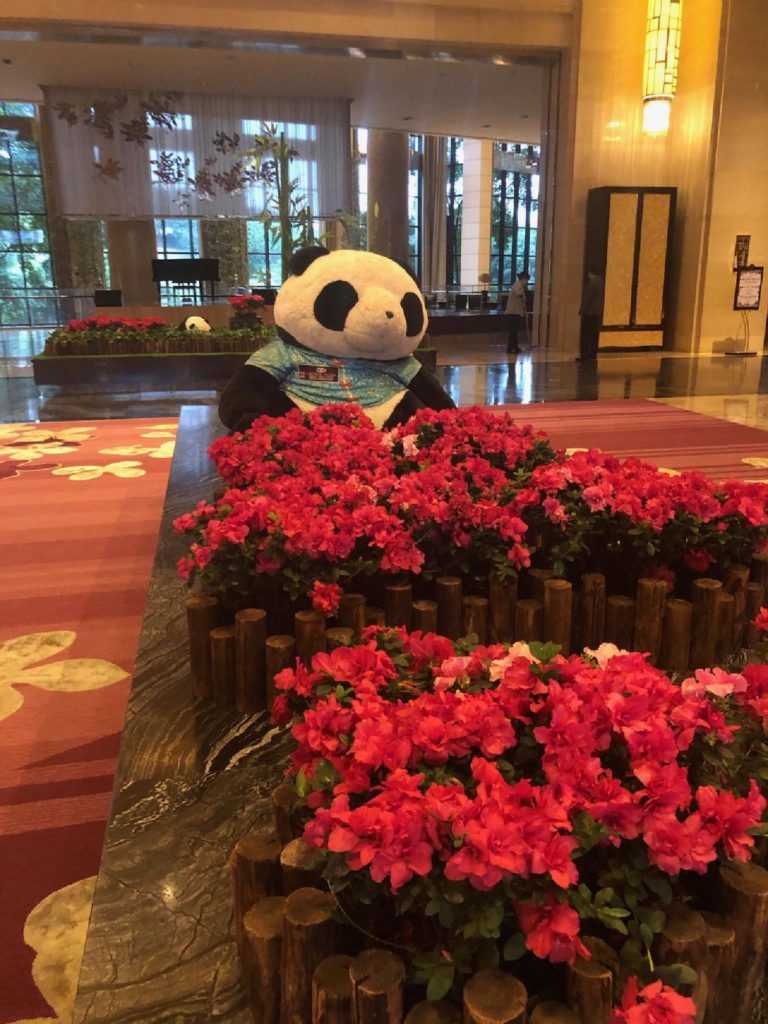 Lobby of the Crown Hotel, Panda, Chengdu